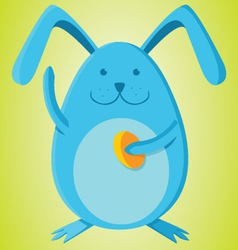 Rabbit with egg vector image