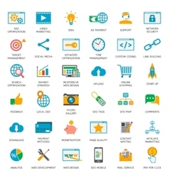 SEO optimization icons vector image