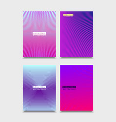 set of brochure covers design halftone gradients vector image
