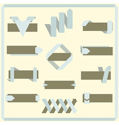 Set of retro ribbons banners and labels vector image vector image