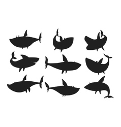 Shark character set vector