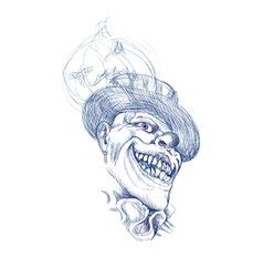 spooky clown vector image vector image