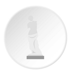 Statue of venus de milo icon circle vector