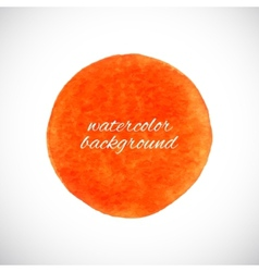 Watercolor circle element vector image vector image