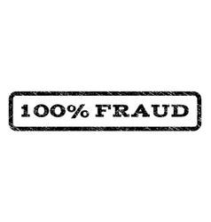 100 percent fraud watermark stamp vector