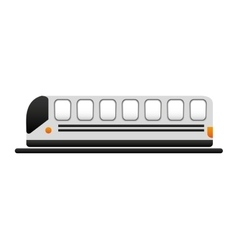 Subway vehicle transport isolated vector