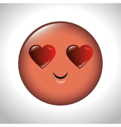 Emoticon feeling love icon graphic vector