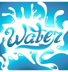 Turquoise water day logo lettering vector