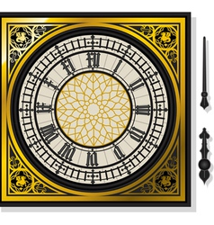 Quadrant of victorian clock with lancets vector