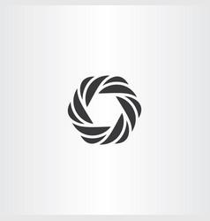 Hexagon icon black symbol element vector