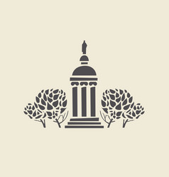 Icon of parks old gazebo with columns vector