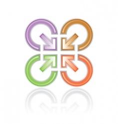 sign arrows center vector image