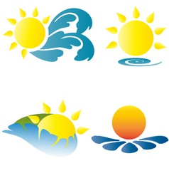 Summer logo logos icons holidays vacation sun vector