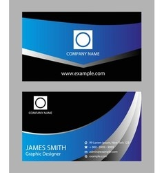 Modern business card set vector