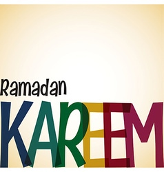 Typographic ramadan card in format vector