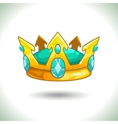 Fancy cartoon golden crown vector