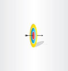 arrow and target sign logo vector image vector image