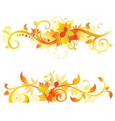 Autumn horisontal design elements vector image vector image