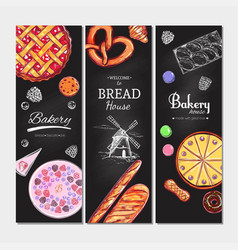 bakery and bread banners3 vector image