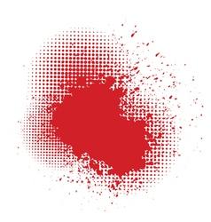 blood splash vector image vector image