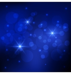 Bokeh deep blue background vector image