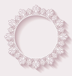 Christmas ornate frame vector image vector image