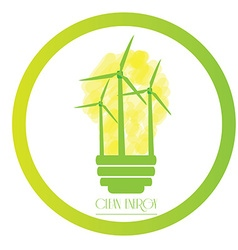 Clean energy vector image
