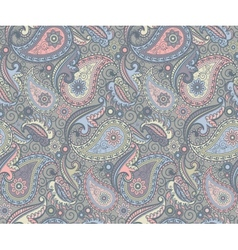 Colored paisley pattern vector image vector image