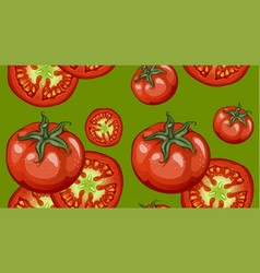 Colorful drawing vegetables pattern vector