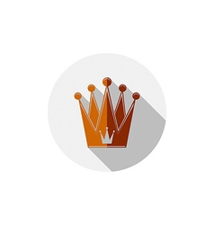 Decorative imperial 3d icon isolated on white vector