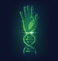 dna hand vector image