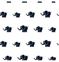 elephants seamless pattern vector image