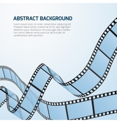 Film strip roll cinema background vector