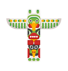 Flat style of totem vector