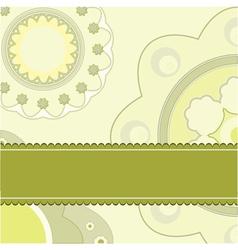 Floral fantasy background vector image