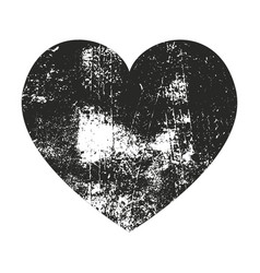 grunge heart silhouette vector image vector image