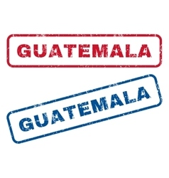 Guatemala rubber stamps vector