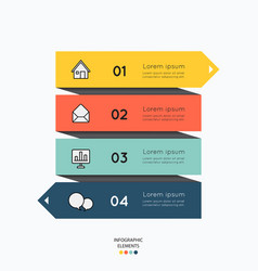 Infographic elements with business icons on white vector