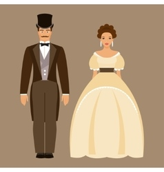 Man and woman of the nineteenth century vector