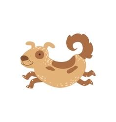 Medium sized spotted dog running vector