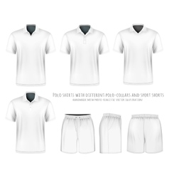 Men short sleeve polo shirt and sport shorts vector image vector image