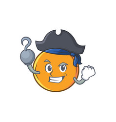 Pirate orange fruit cartoon character vector