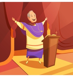 Pope cartoon vector
