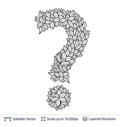 Question sign of white leaves vector
