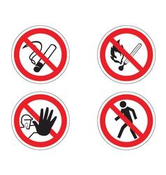 Regulatory signs vector