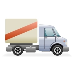 Retro Light Commercial Vehicle Pickup Truck Car vector image vector image