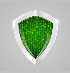 Security digital shield soncept web security or vector