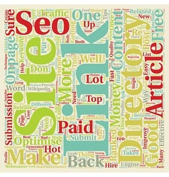 Seo in 10 easy steps text background wordcloud vector