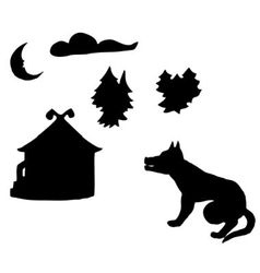 Silhouettes on fairy tales vector