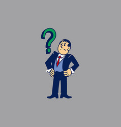 Simple businessman get issues vector